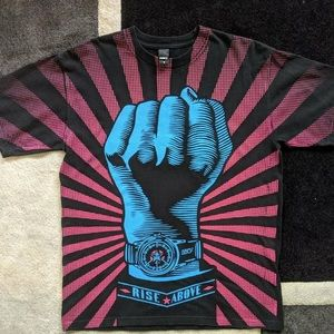 Obey Rise Above All Over Print T Shirt Size Medium